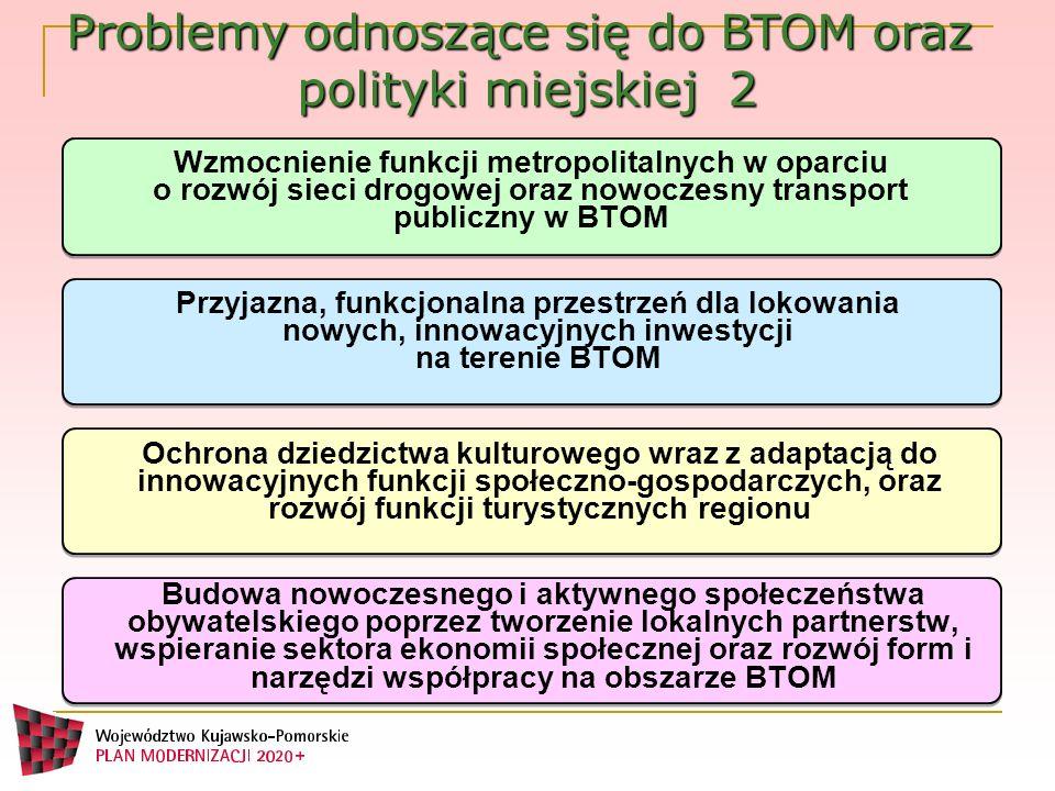 Wzmocnienie funkcji metropolitalnych w oparciu o rozwój sieci drogowej oraz nowoczesny transport publiczny w BTOM Przyjazna, funkcjonalna przestrzeń d