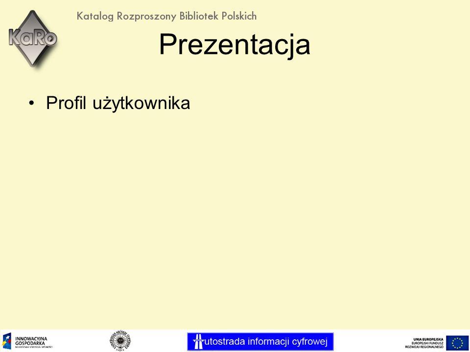Prezentacja Profil użytkownika