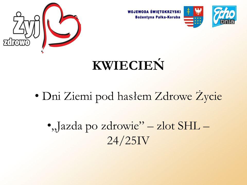 KWIECIEŃ Dni Ziemi pod hasłem Zdrowe Życie Jazda po zdrowie – zlot SHL – 24/25IV