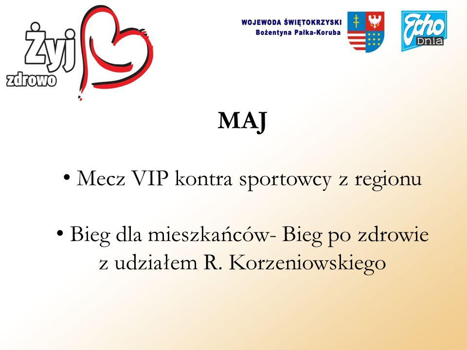 MAJ Mecz VIP kontra sportowcy z regionu Bieg dla mieszkańców- Bieg po zdrowie z udziałem R. Korzeniowskiego