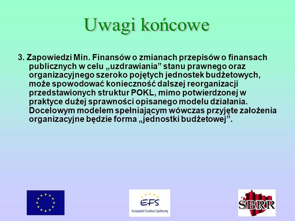 3. Zapowiedzi Min. Finansów o zmianach przepisów o finansach publicznych w celu uzdrawiania stanu prawnego oraz organizacyjnego szeroko pojętych jedno