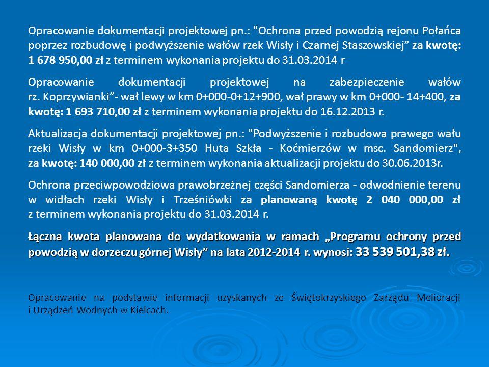 Opracowanie dokumentacji projektowej pn.:
