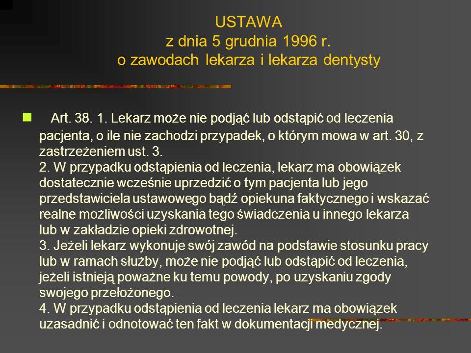 USTAWA z dnia 17 maja 1989 r. o izbach lekarskich. Art. 16. Członkowie samorządu lekarzy mają prawo: 1) wybierać i być wybieranymi do organów samorząd