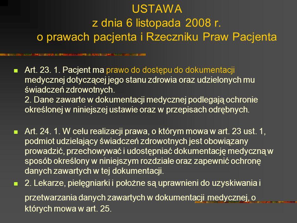 USTAWA z dnia 6 listopada 2008 r. o prawach pacjenta i Rzeczniku Praw Pacjenta Art. 20. 1. Pacjent ma prawo do poszanowania intymności i godności, w s