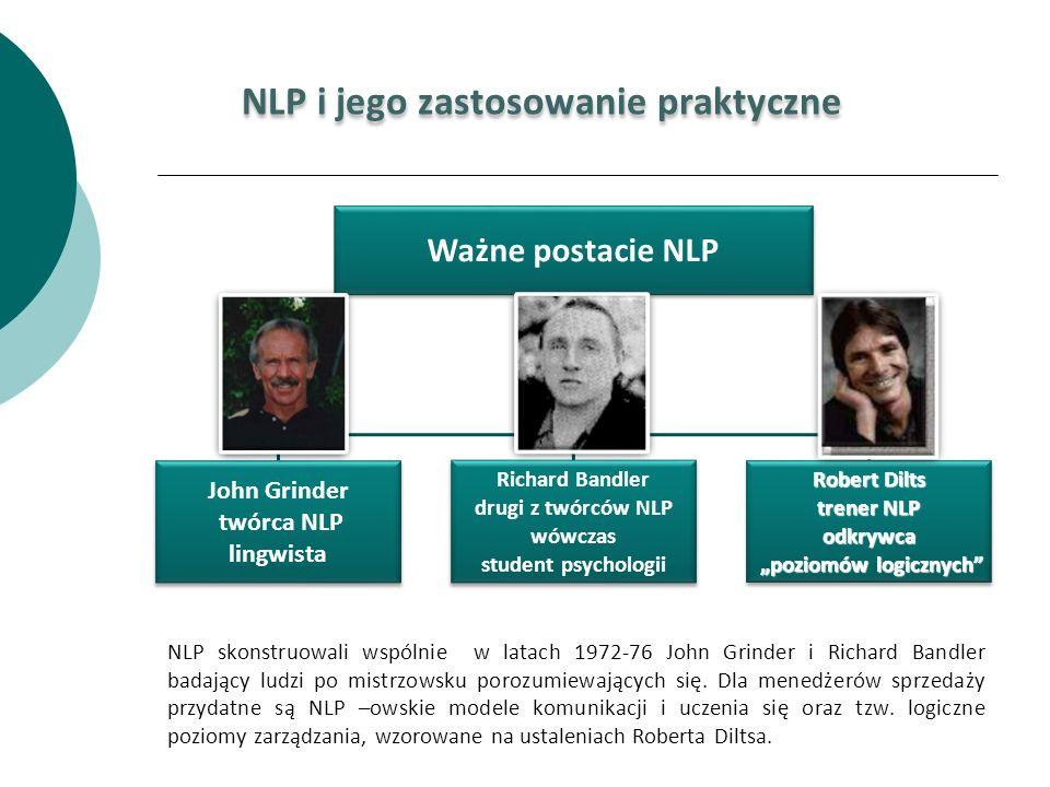 NLP skonstruowali wspólnie w latach 1972-76 John Grinder i Richard Bandler badający ludzi po mistrzowsku porozumiewających się. Dla menedżerów sprzeda