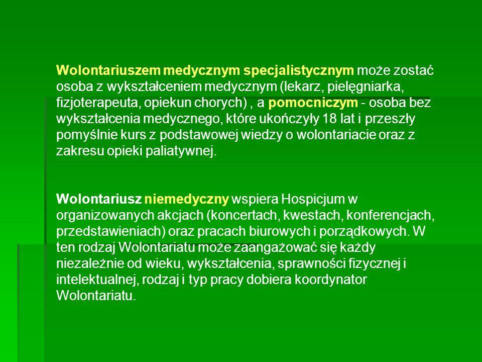 Jak zorganizować dobry wolontariat na przykładzie Hospicjum Palium?cd IV.