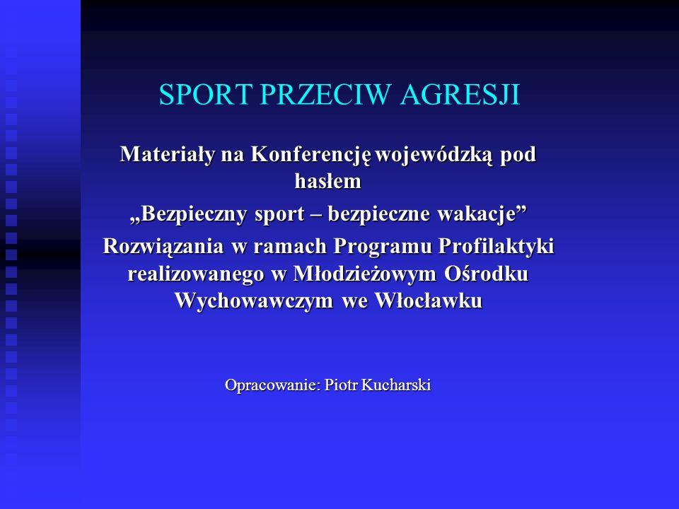 SPORT PRZECIW AGRESJI Materiały na Konferencję wojewódzką pod hasłem Bezpieczny sport – bezpieczne wakacje Rozwiązania w ramach Programu Profilaktyki