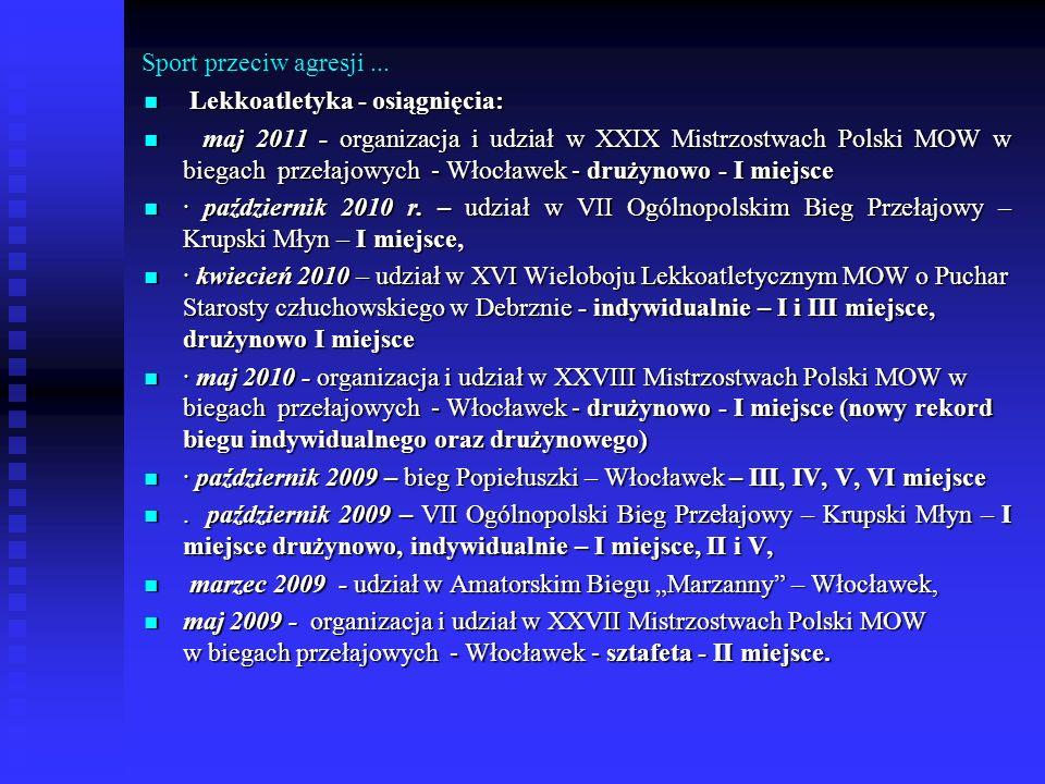 Sport przeciw agresji... Lekkoatletyka - osiągnięcia: Lekkoatletyka - osiągnięcia: maj 2011 - organizacja i udział w XXIX Mistrzostwach Polski MOW w b