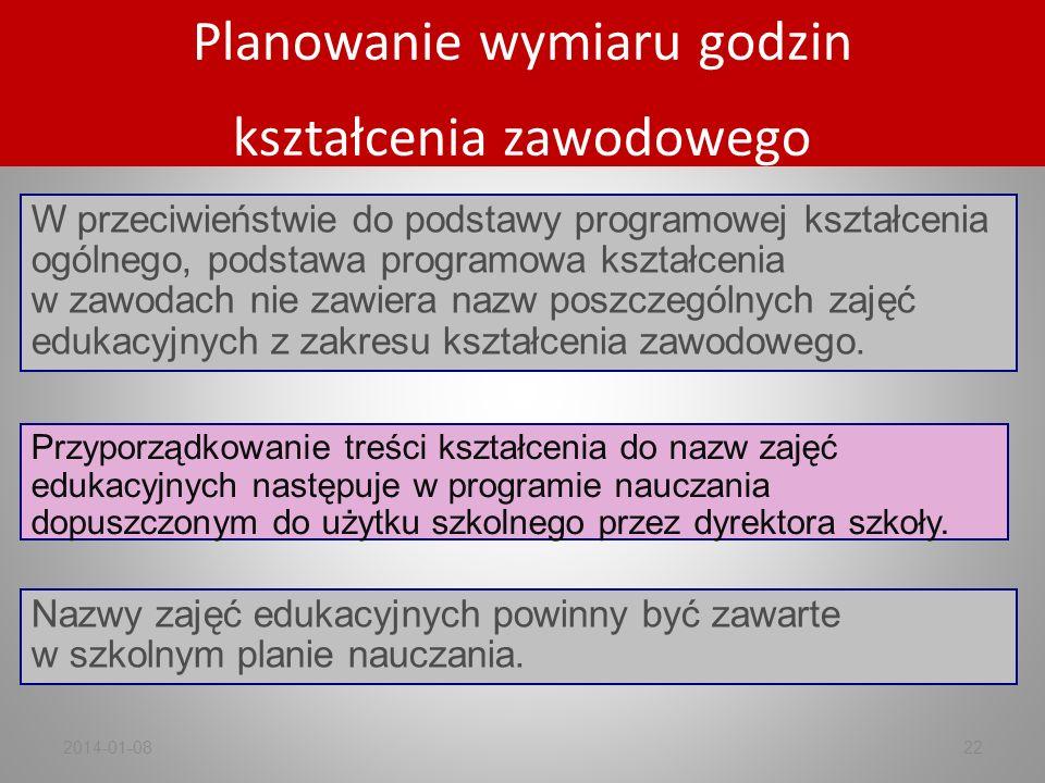 Przyporządkowanie treści kształcenia do nazw zajęć edukacyjnych następuje w programie nauczania dopuszczonym do użytku szkolnego przez dyrektora szkoł