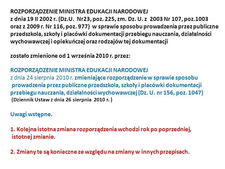 ROZPORZĄDZENIE MINISTRA EDUKACJI NARODOWEJ z dnia 19 II 2002 r.