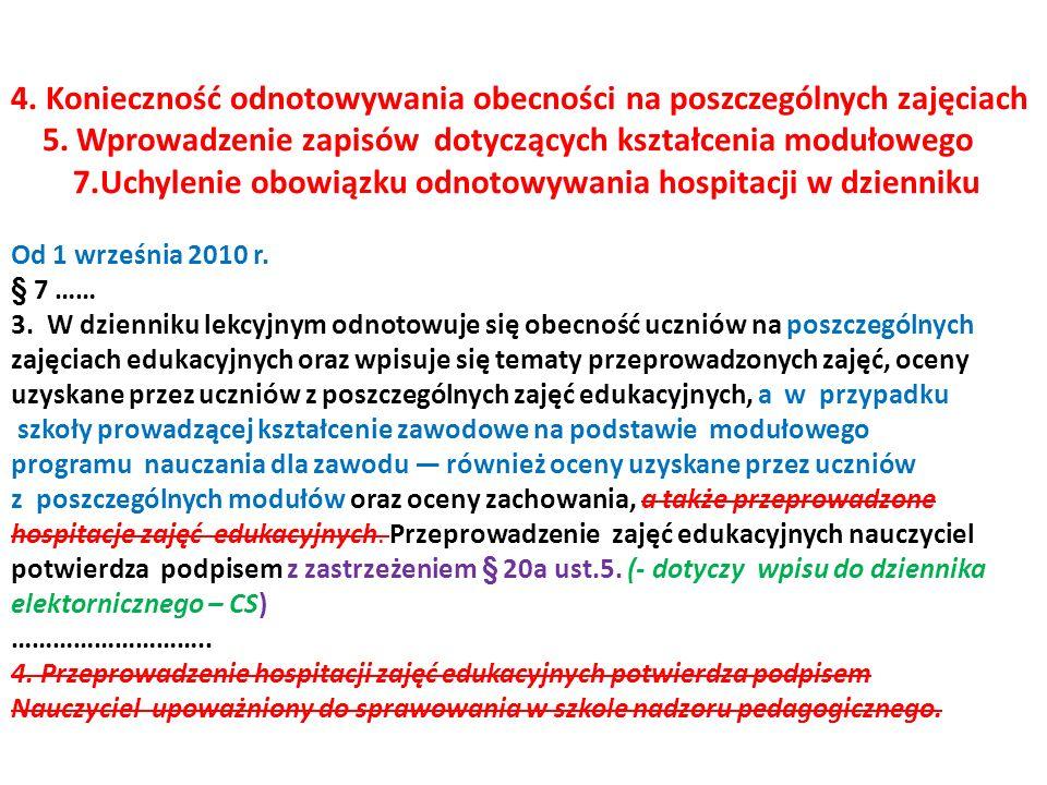 8.Dodatkowy dziennik w szkołach publicznych § 11a.