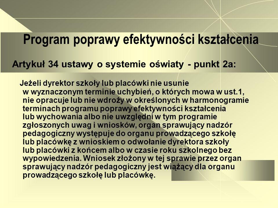 Program poprawy efektywności kształcenia- struktura 1.