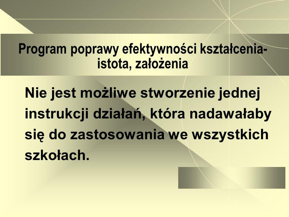 Program poprawy efektywności kształcenia- przygotowanie I.1.