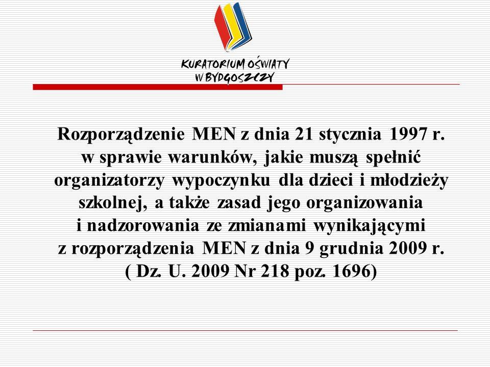 Rozporządzenie MEN z dnia 21 stycznia 1997 r.