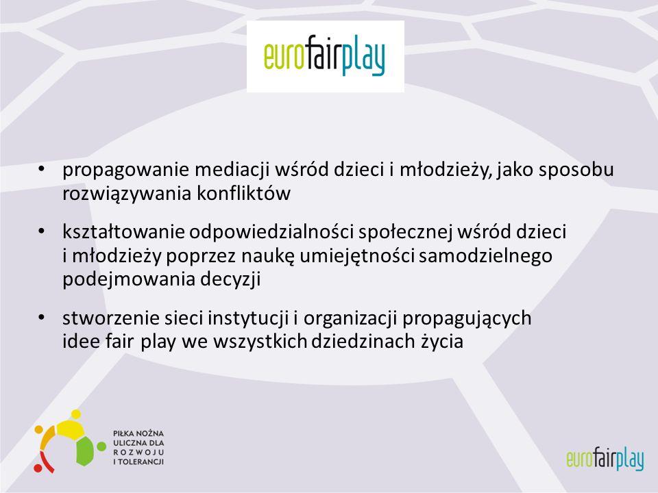 Projekt dąży do zbudowania i zintegrowania ogólnopolskiej sieci inicjatyw obywatelskich propagujących postawy fair play takie jak: tolerancja i otwartość na drugiego człowieka mediacja – umiejętność rozwiązywania konfliktów kształtowanie umiejętności międzykulturowej komunikacji gotowość niesienia innym pomocy umiejętność podejmowania i inspirowania wspólnych działań dawanie poczucia bezpieczeństwa obcym poprzez integrowanie ich w grupie