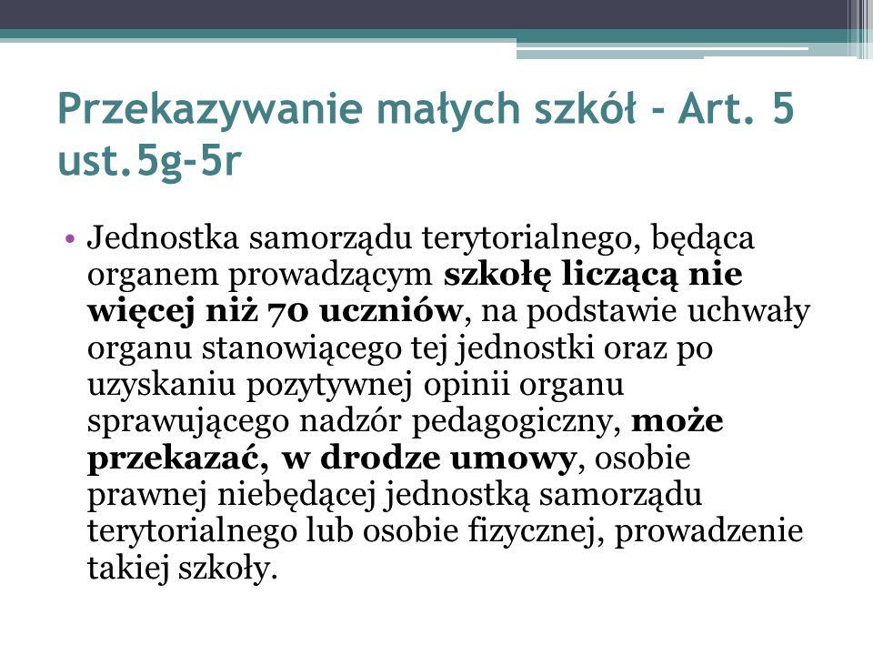 Łączenie szkół w zespół – Art.62 Ust 5.