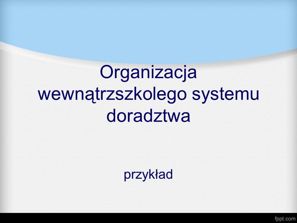 Organizacja wewnątrzszkolego systemu doradztwa przykład