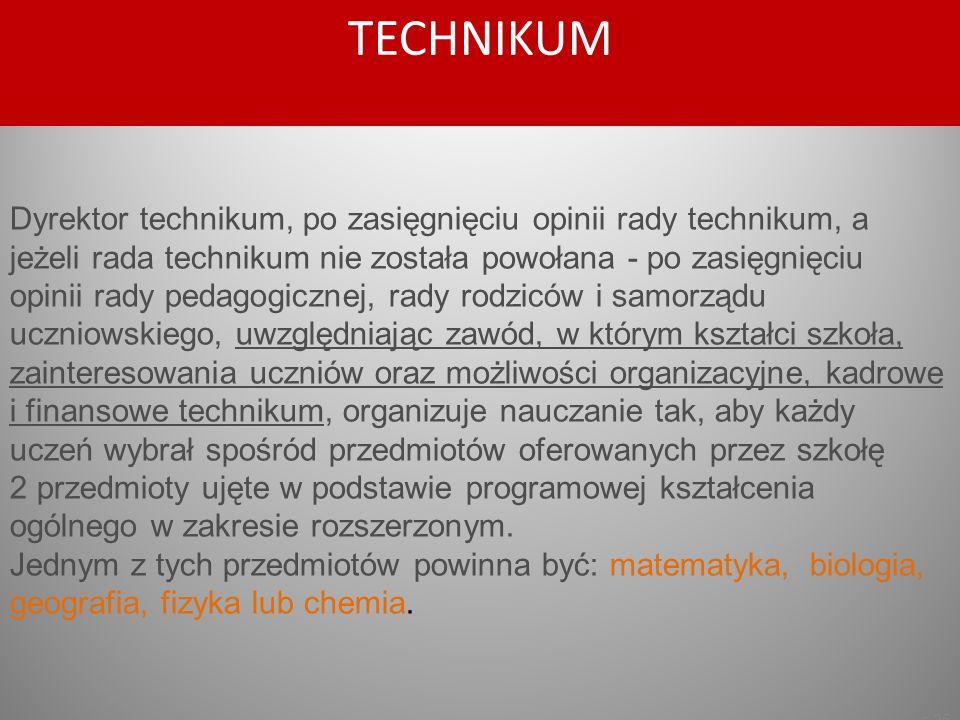 s.25 Dyrektor technikum, po zasięgnięciu opinii rady technikum, a jeżeli rada technikum nie została powołana - po zasięgnięciu opinii rady pedagogiczn