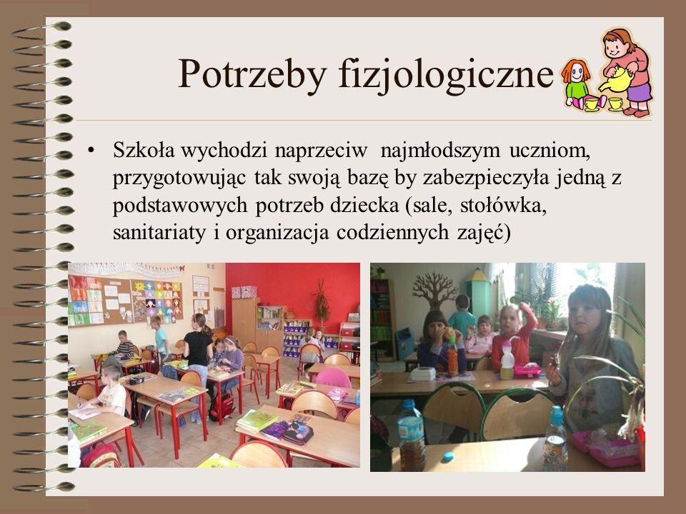 Potrzeby fizjologiczne Szkoła wychodzi naprzeciw najmłodszym uczniom, przygotowując tak swoją bazę by zabezpieczyła jedną z podstawowych potrzeb dziec