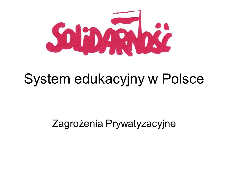 System edukacyjny w Polsce Zagrożenia Prywatyzacyjne