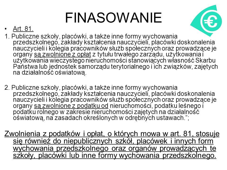 FINASOWANIE Art. 81. 1.
