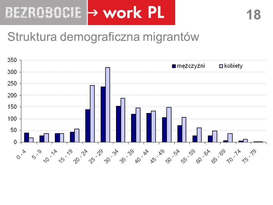 LUBLIN 18 Struktura demograficzna migrantów