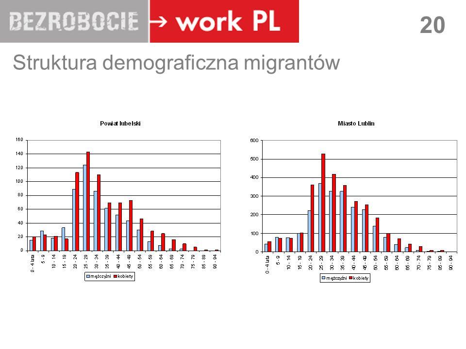 LUBLIN 20 Struktura demograficzna migrantów