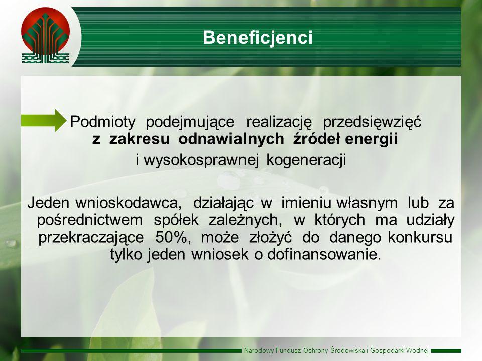Narodowy Fundusz Ochrony Środowiska i Gospodarki Wodnej Budżet 3 165 mln zł, w tym 1 055 mln zł jako dotacja ze środków pochodzących z transakcji sprzedaży jednostek AAU lub środków NFOŚiGW oraz 2 110 mln zł w formie pożyczki ze środków NFOŚiGW.