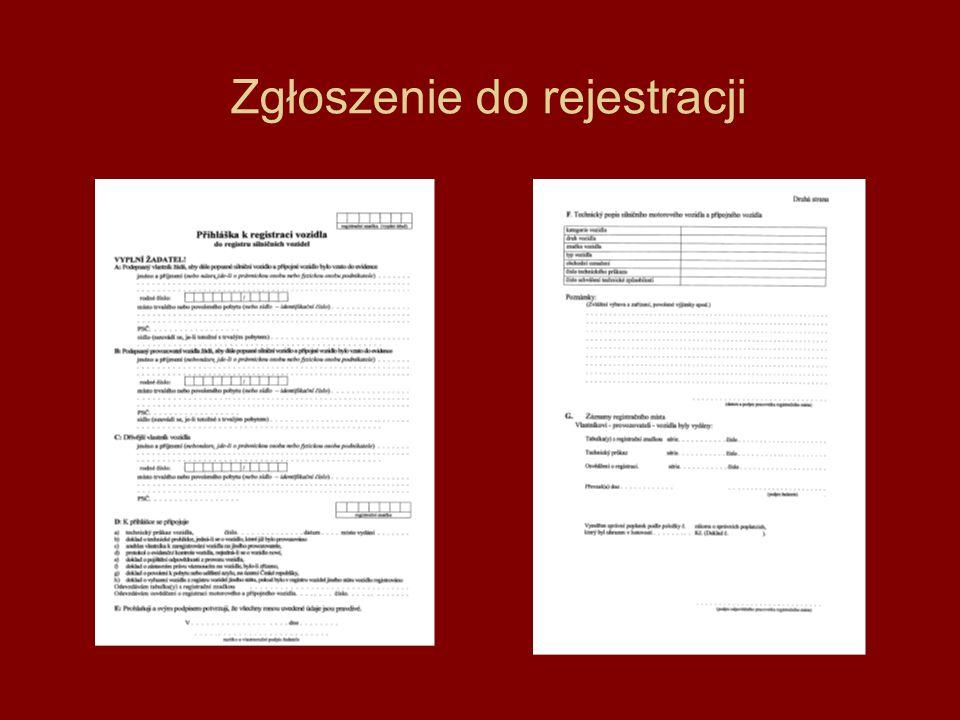 Zgłoszenie do rejestracji