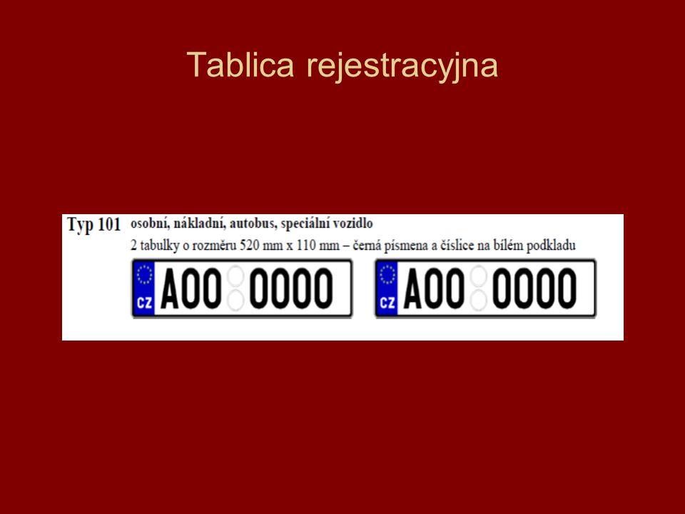 Tablica rejestracyjna