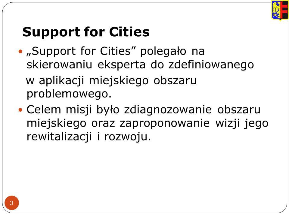 Support for Cities 3 Support for Cities polegało na skierowaniu eksperta do zdefiniowanego w aplikacji miejskiego obszaru problemowego.