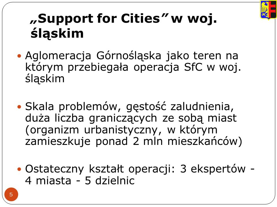 Support for Cities w woj.