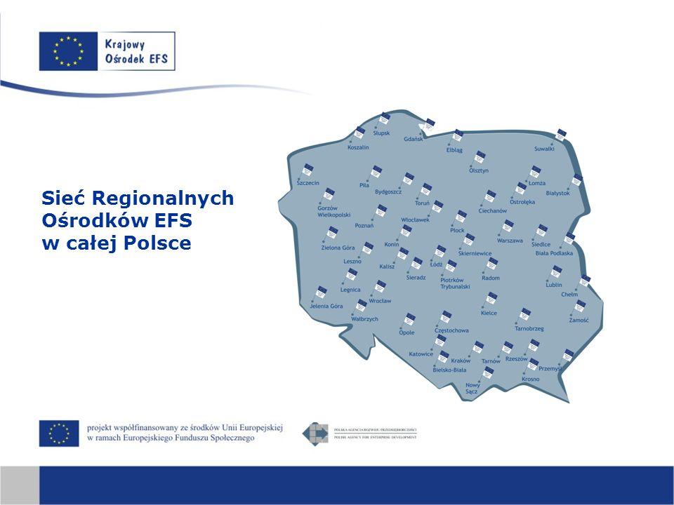 Sieć Regionalnych Ośrodków EFS w całej Polsce