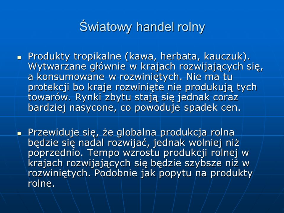 Ocena skutków dla Polski Jednym z najbardziej wrażliwych obszarów negocjacji WTO jest dostęp do rynku.