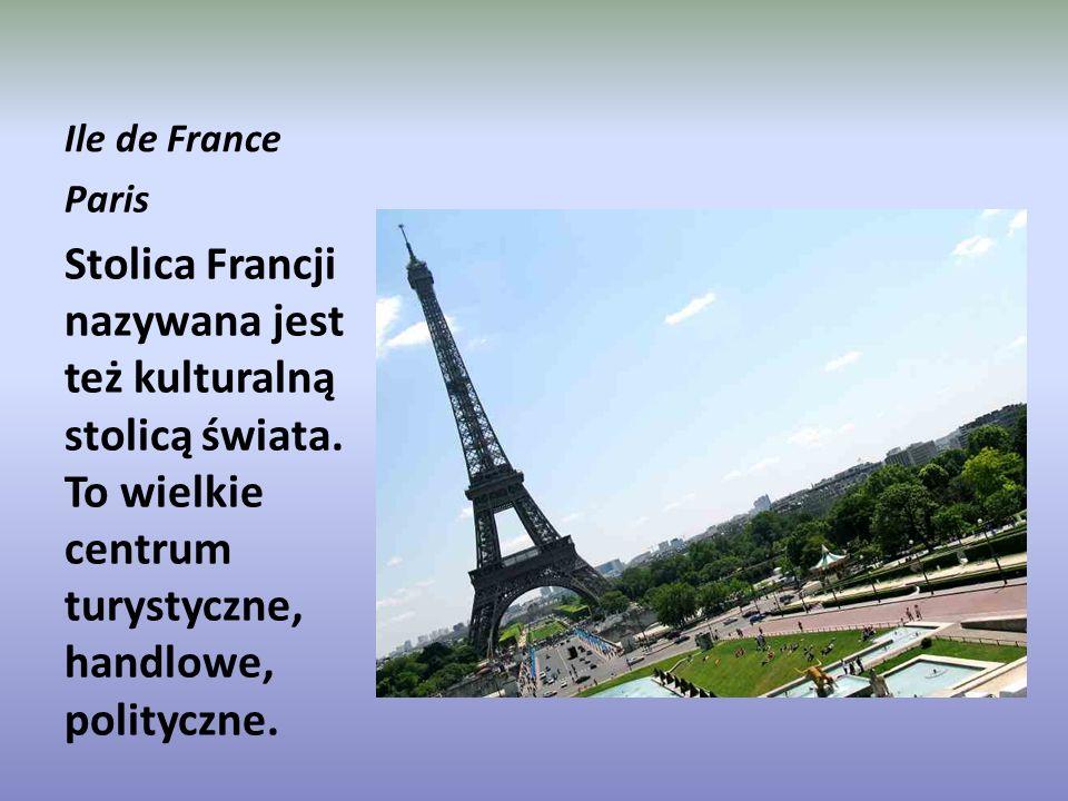 Ile de France Paris Stolica Francji nazywana jest też kulturalną stolicą świata.