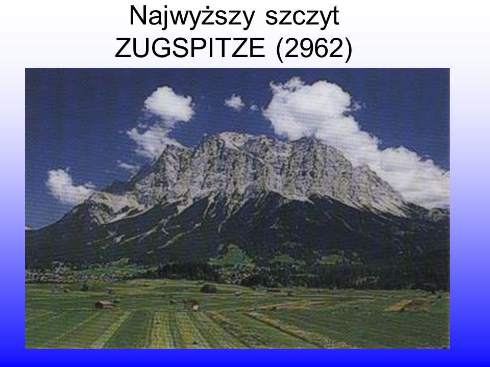 Najwyższy szczyt ZUGSPITZE (2962)