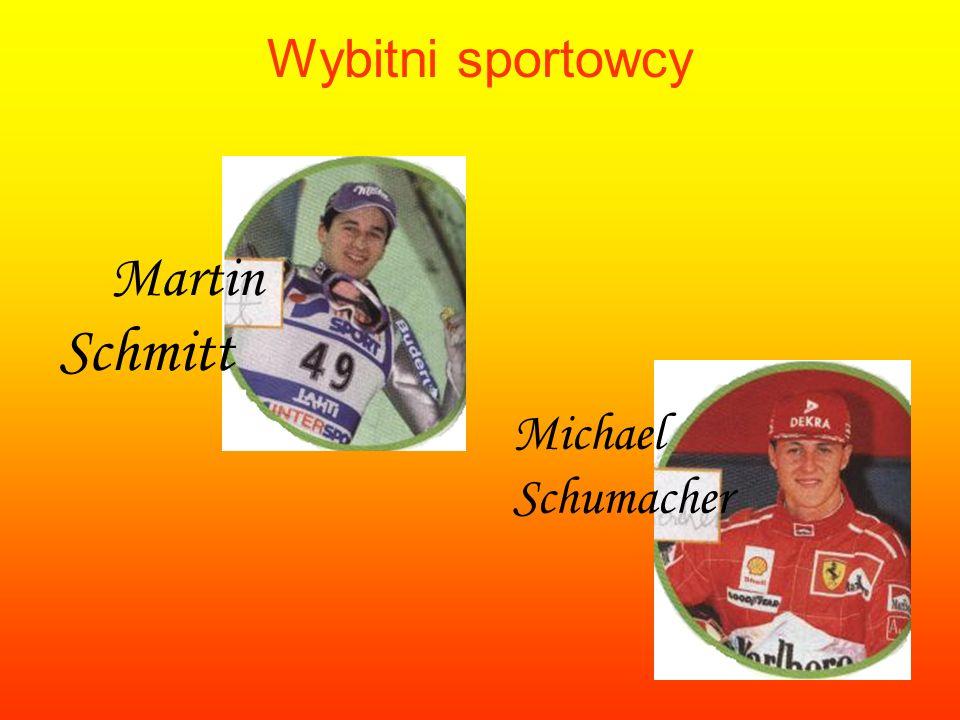 Wybitni sportowcy Michael Schumacher Martin Schmitt