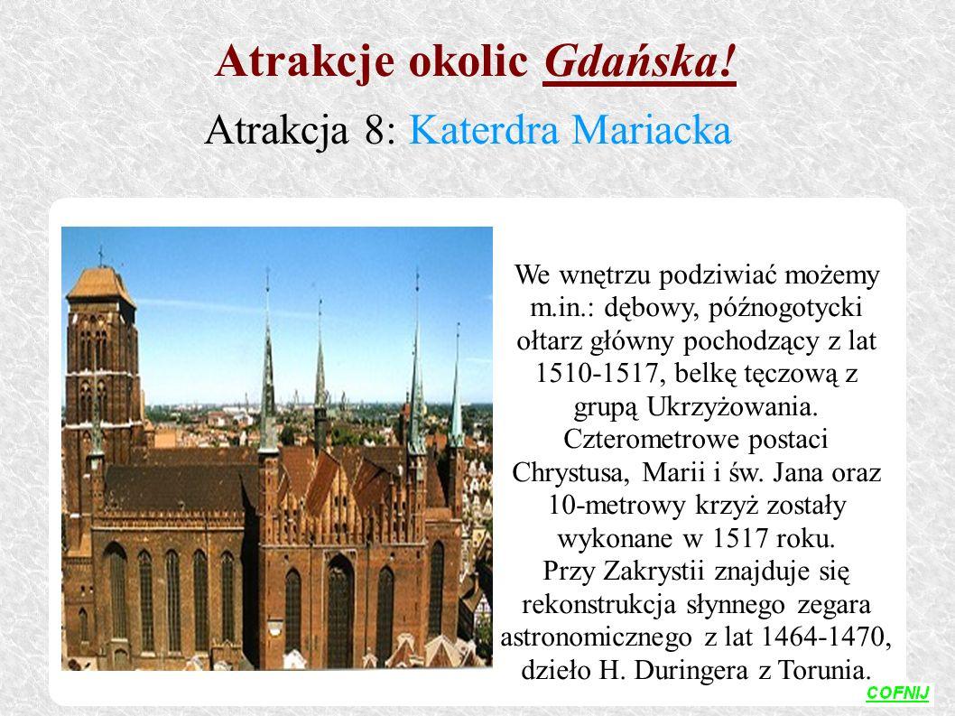 We wnętrzu podziwiać możemy m.in.: dębowy, późnogotycki ołtarz główny pochodzący z lat 1510-1517, belkę tęczową z grupą Ukrzyżowania. Czterometrowe po