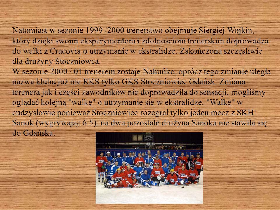 Szansą na pozostanie w I lidze były mecze barażowe z mistrzem II ligi MOSIR Sosnowiec, które po dramatycznym przebiegu, rozgrywane z powodu braku lodu na HSW Olivia ,w Bydgoszczy i Sosnowcu zakończyły się wynikami 2:2 i 3:2 co dało utrzymanie w I lidze.