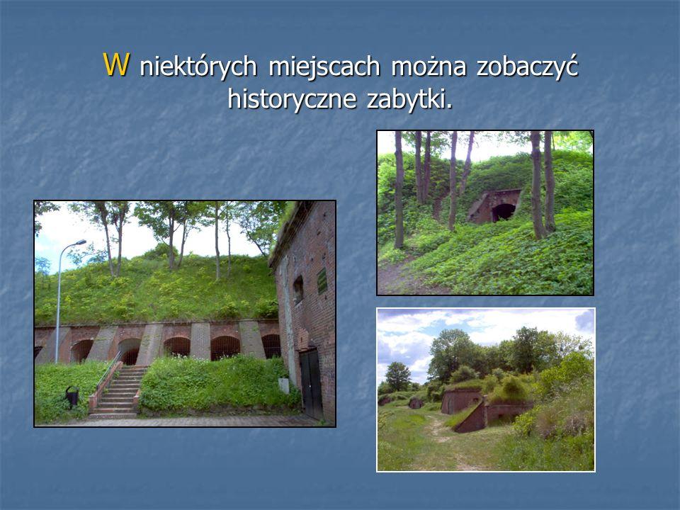 W niektórych miejscach można zobaczyć historyczne zabytki.