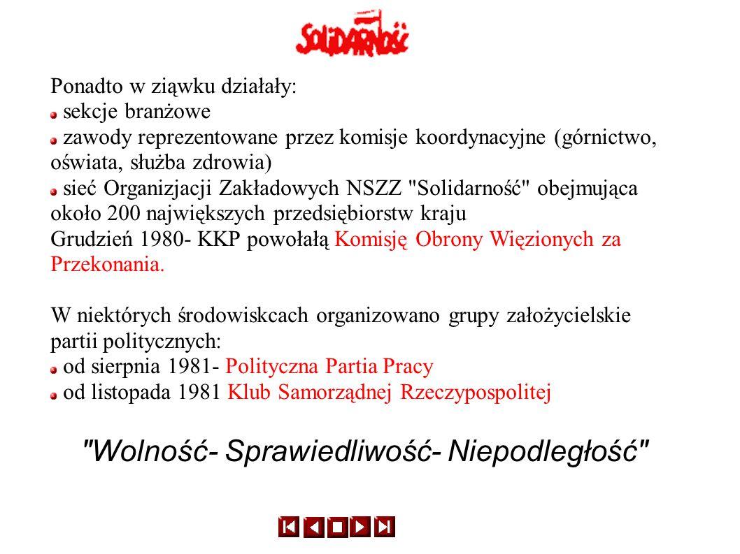 Program Solidarności łączył różnorodne inspiracje ideowe: socjalistyczne (sprawiedliwość społeczna, samorządność i egalitaryzm) katolickich nauk społecznych (solidaryzm społeczny i pracowniczy, odrzucenie przemocy w rozwiązywaniu konfliktów społecznych) polskiej tradycji niepodległościowej Wyborcza świnia z 1981r.