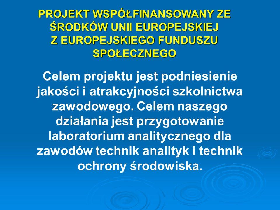 PROJEKT WSPÓŁFINANSOWANY ZE ŚRODKÓW UNII EUROPEJSKIEJ Z EUROPEJSKIEGO FUNDUSZU SPOŁECZNEGO Celem projektu jest podniesienie jakości i atrakcyjności sz