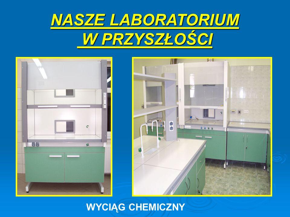 NASZE LABORATORIUM W PRZYSZŁOŚCI W PRZYSZŁOŚCI WYCIĄG CHEMICZNY