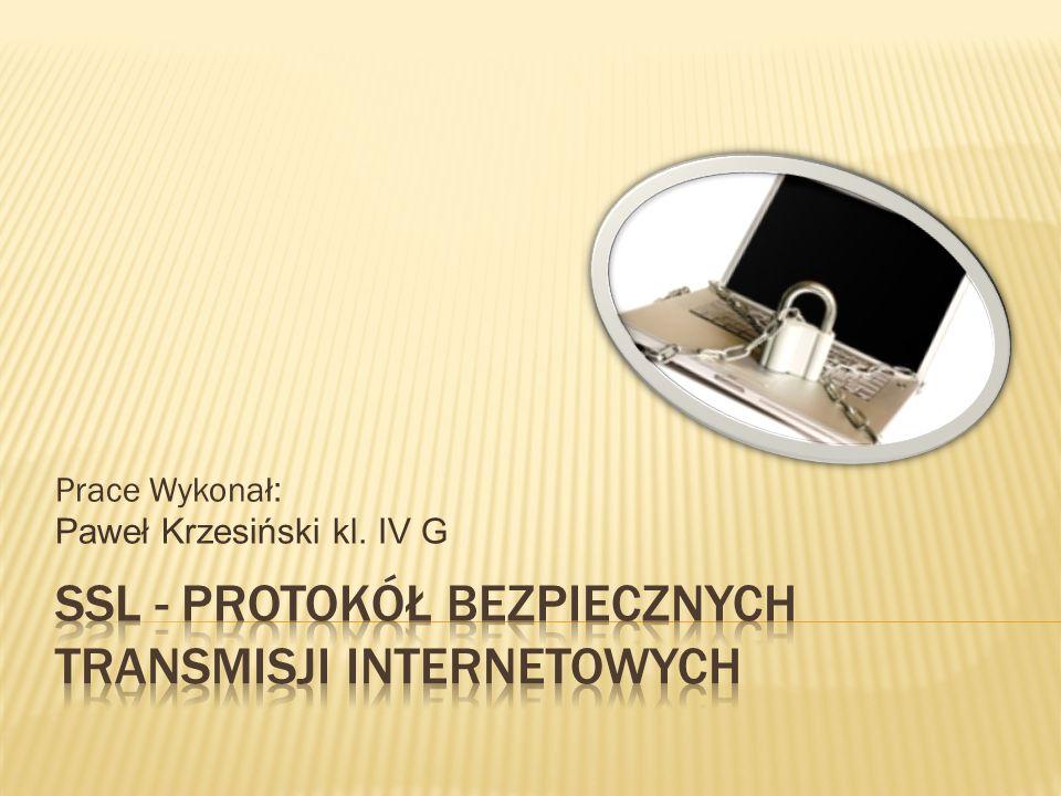 Prace Wykonał : Paweł Krzesiński kl. IV G