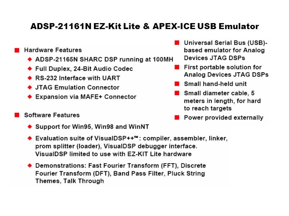 ADSP-21161N EZ-Kit Lite & APEX-ICE USB Emulator