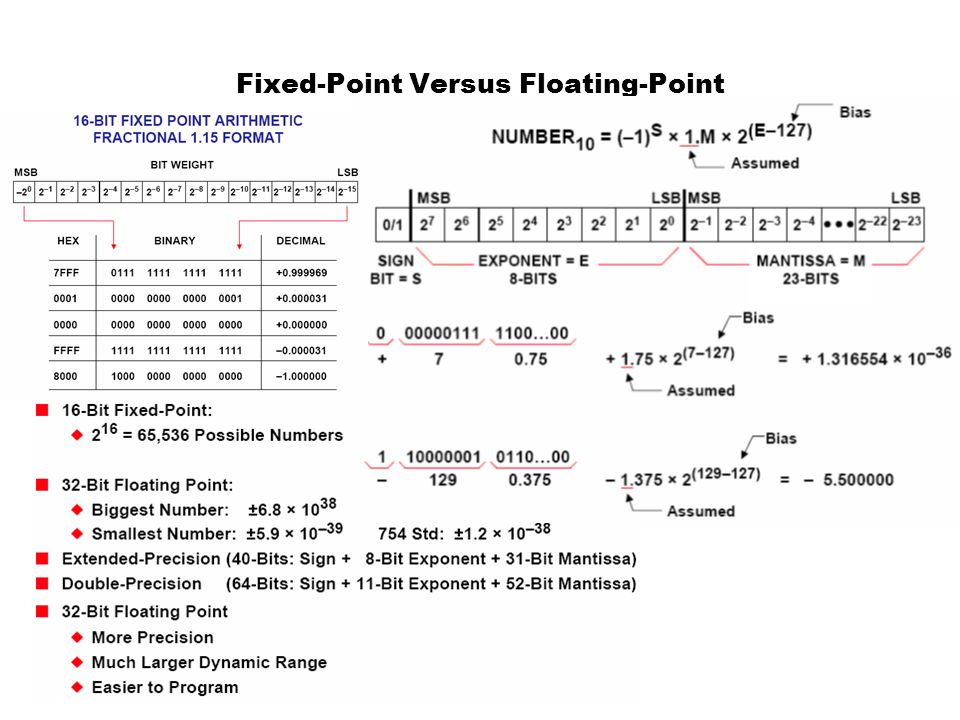 Fixed-Point Versus Floating-Point