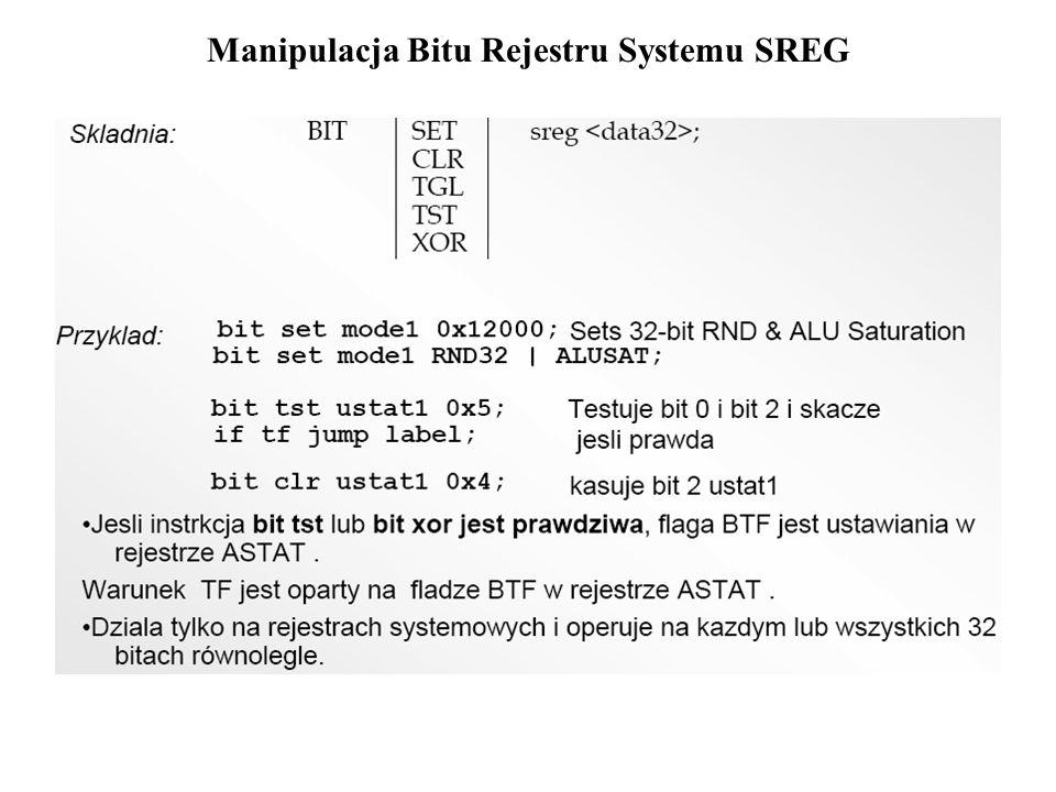 Manipulacja Bitu Rejestru Systemu SREG
