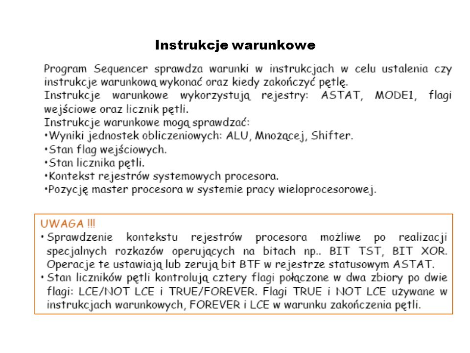 Przykladowe instrukcje wykonania programu