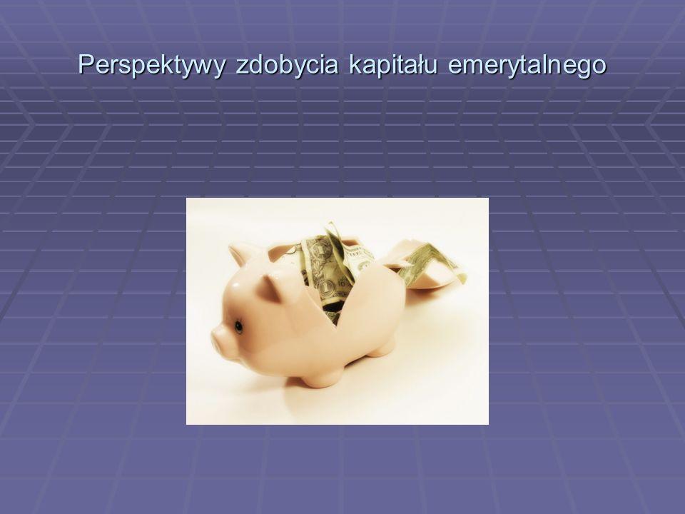 Perspektywy zdobycia kapitału emerytalnego