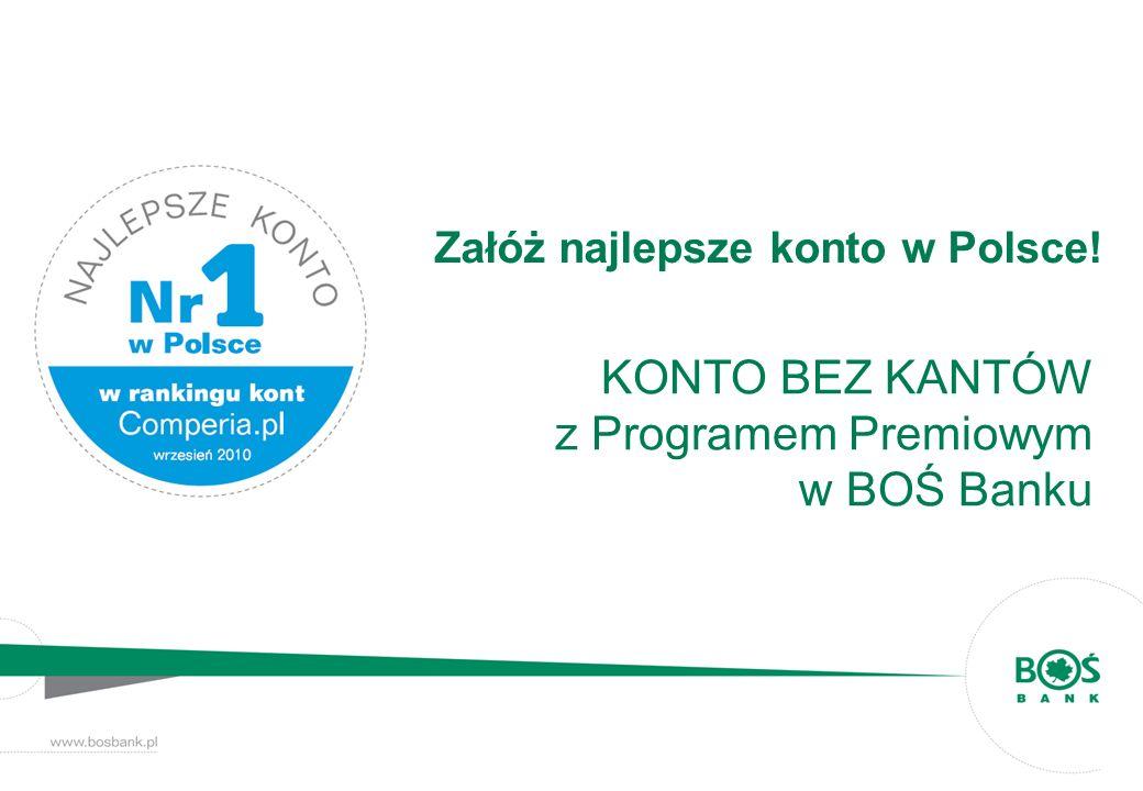 Załóż najlepsze konto w Polsce! KONTO BEZ KANTÓW z Programem Premiowym w BOŚ Banku